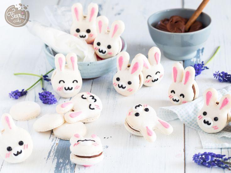 Macarons de Pâques le tutoriel lapinou - Féerie Cake