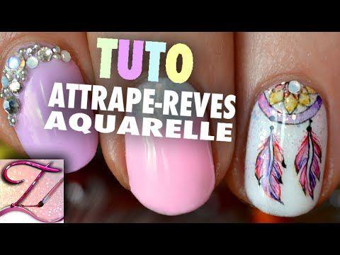 Tuto nail art attrape-rêves en aquarelle - http://www.nailtech6.com/tuto-nail-art-attrape-reves-en-aquarelle/