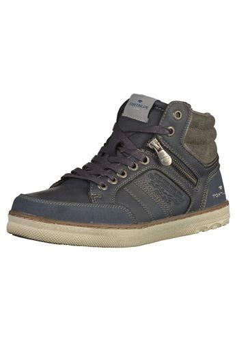 #TOM #TAILOR #Herren #Sneaker #blau Schöner High Sneaker von Tom Tailor mit zusätzlichem Reißverschluss zum einfachen An- und Ausziehen und schönen Details.