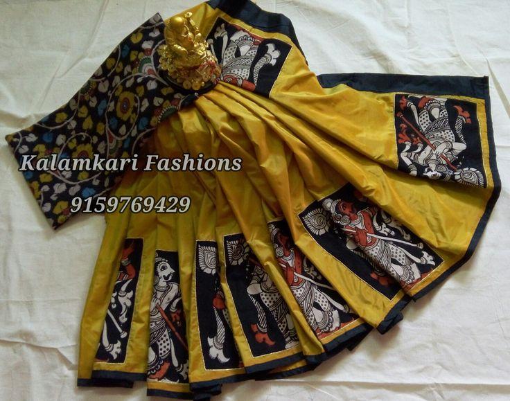 Applic work KALAMKARI sarees