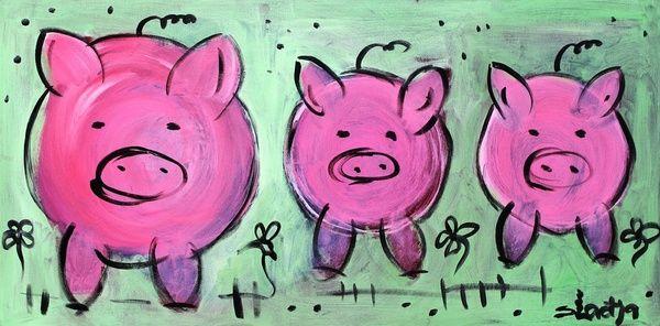 Mama pig Art Print by sladja   Society6