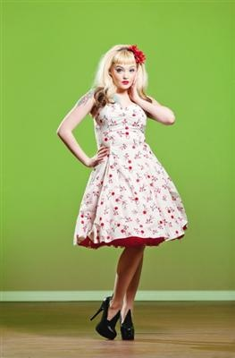 A '50s-style dress by Heartbreaker, from Rowena on Whyte Avenue.