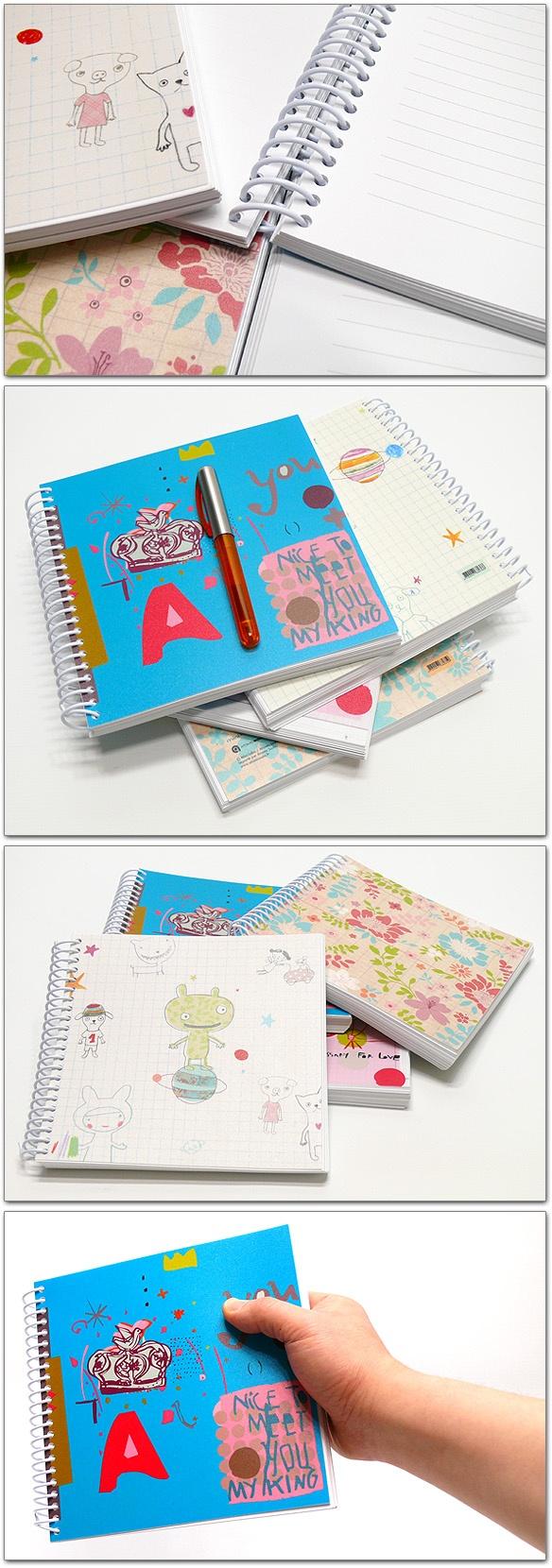 Atomic Soda Minilabo Polypro Notebook - Floral