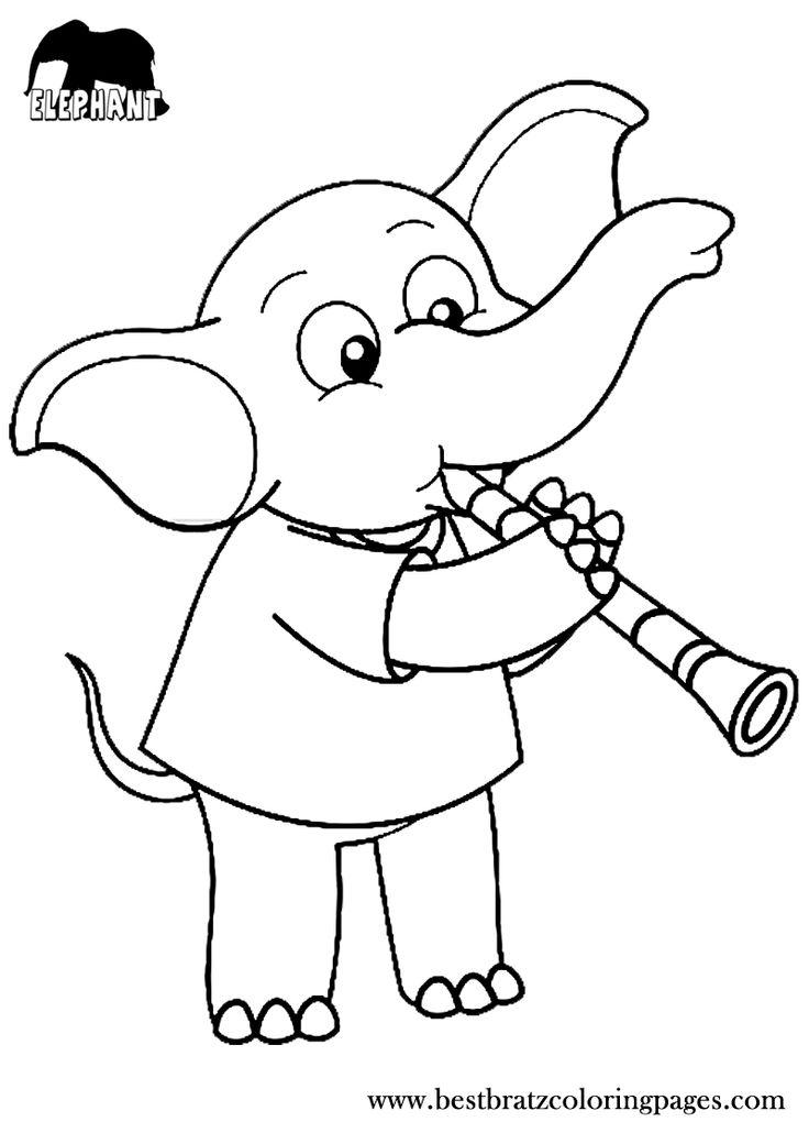 Ellie Elephant Coloring Page