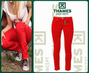 THAMES: Google+ HOY: dos propuestas cancherisimas en pantalones para #Ella  Opcion 4: Pantalón chupin elastizado Rojol!!