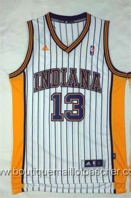 maillot nba pas cher Indiana Pacers George #13 Blanc nouveaux tissu 22,99€