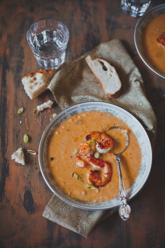 Spicy Shrimp Corn Chowder   Playful Cooking  Just replace butter with coconut oil for a healthy meal