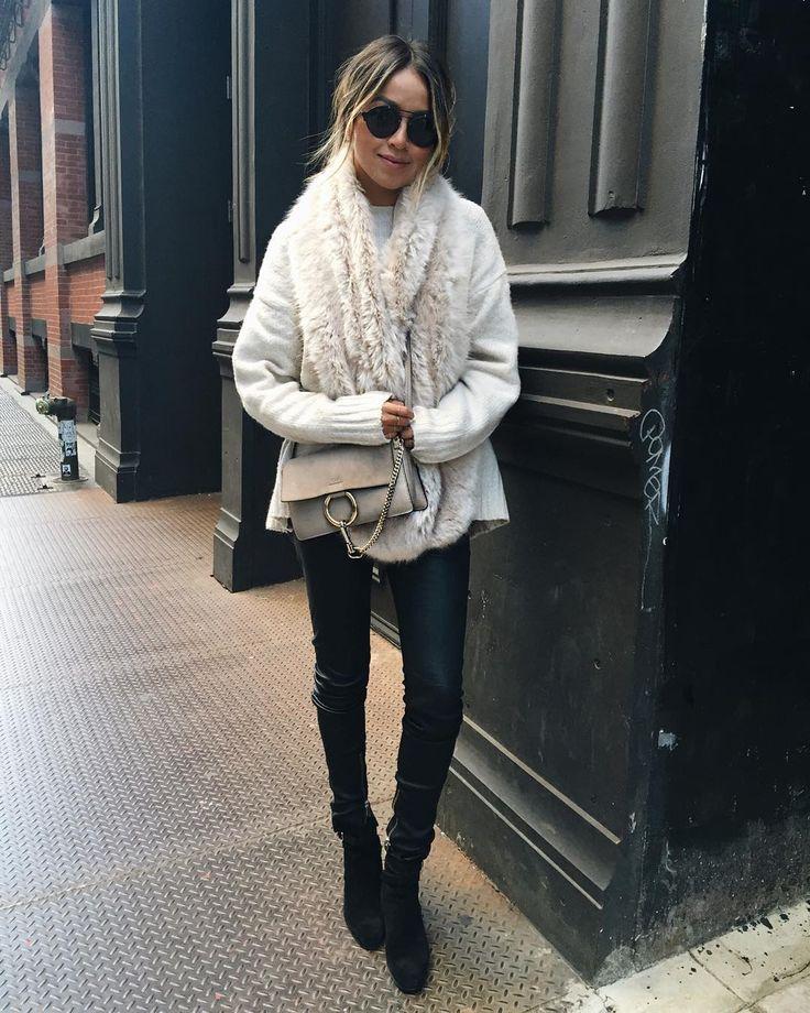 Keepin' it faux.  / Saint Laurent booties via @fwrd #lookfwrd by sincerelyjules