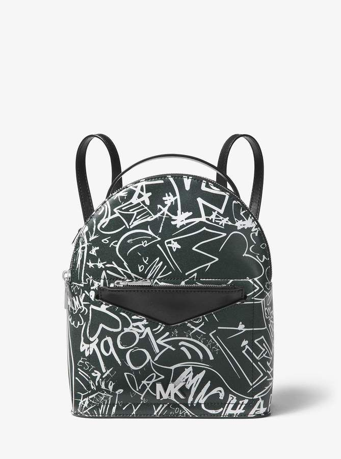 058eb81df60b MICHAEL Michael Kors Jessa Small Logo Graffiti Leather Convertible Backpack