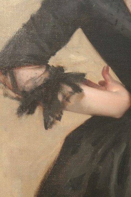 Lady with the Rose (Charlotte Louise Burckhardt) (detail), 1882, by John Singer Sargent (American, 1856–1925)