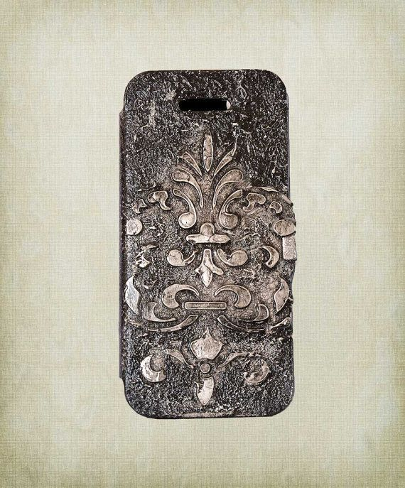 3d Gothic iPhone Case  Leather Phone Case  by ShabbyChicToVintage, $55.00