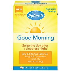 Have a good morning even after a bad night's sleep!  Non-habit-forming alertness aid contains a natural, caffeine-free formula that addresses both the mental and emotional aftermath of a sleepless night for effective and safe relief of drowsiness and fatigue without stimulants.  Safe to take with coffee or energy drinks.  Dissolve 1-2 tablets under the tongue.  Contains 50 tablets.  These statements have not been evaluated by the Food and Drug Administration.  This product is not intended…