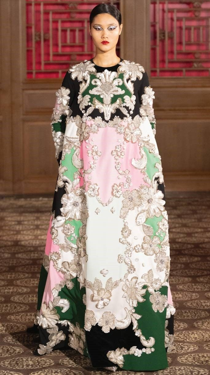 Valentino Pre Fall 2020 Floral Evening Dresses Fashion Couture Collection