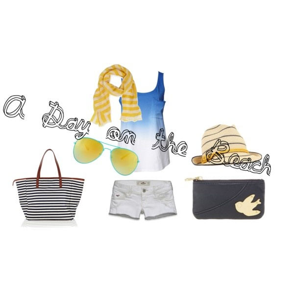 A day on the beach..my 4th polyvore creation!