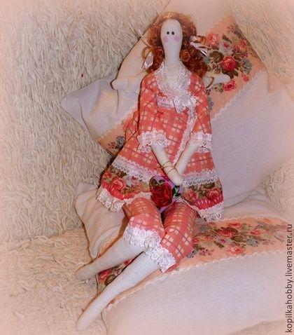 Тильда спальный ангел - кремовый,тильда,украшение для интерьера,спальня