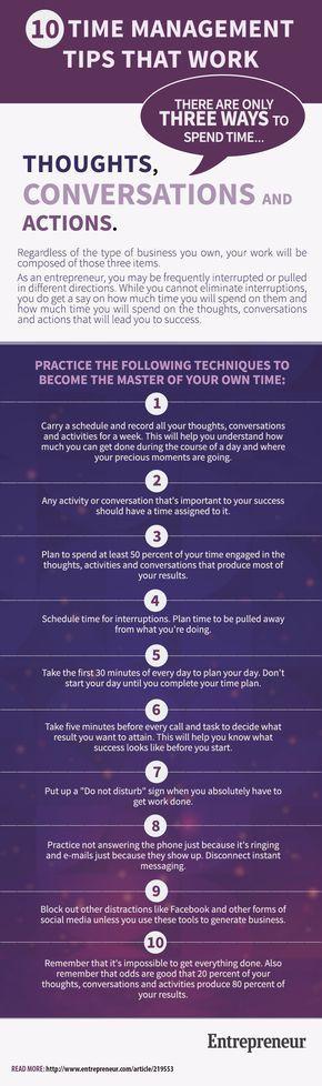 10 Terrific Time Management Tips