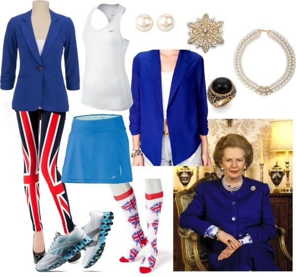 Margaret Thatcher running costume for Bay to Breakers!