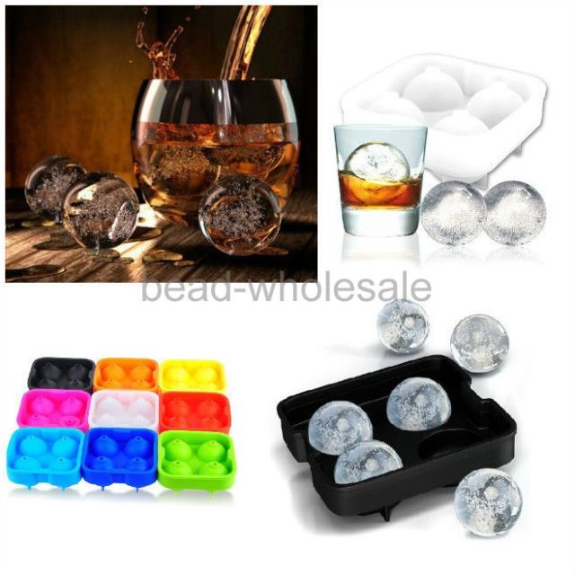 Whiskey Ice Cube Ball Maker Mold Sphere Mould Party Tray Brick Round Bar Silicon $3.89