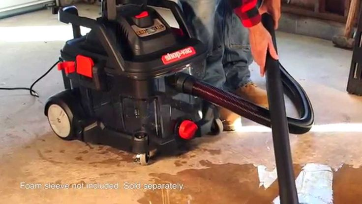 The newest Shop-Vac® Brand Wet/Dry Vacuum is there when you need it. Clogged drains, flooded basement, no problem this vac can handle that wet mess. Available October 2015, exclusively at your local Lowe's® Home Improvement store. @lowes  Foam sleeve is not included, sold separately. https://www.shopvac.com/lowes