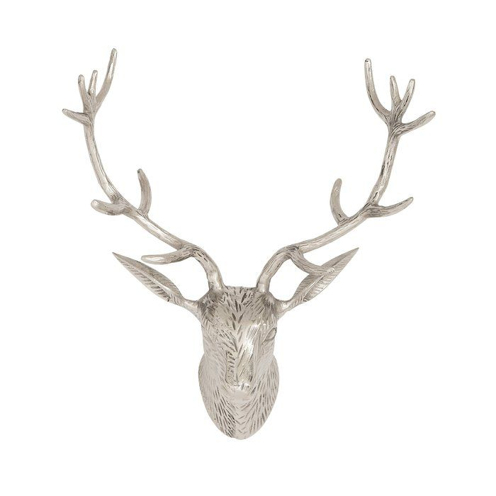 This Environmentally Friendly Aluminum Reindeer Head Wall Décor is made of quality materials and will be a great addition to your space.