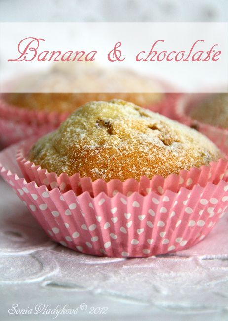 Unavená vařečka: Muffin... banány a čokoláda...