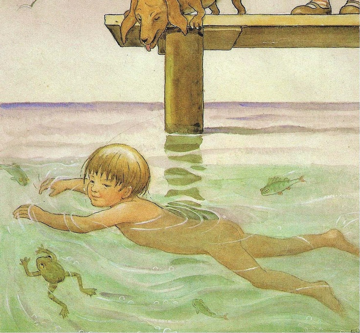Elsa Beskow, Swimming with Frogs