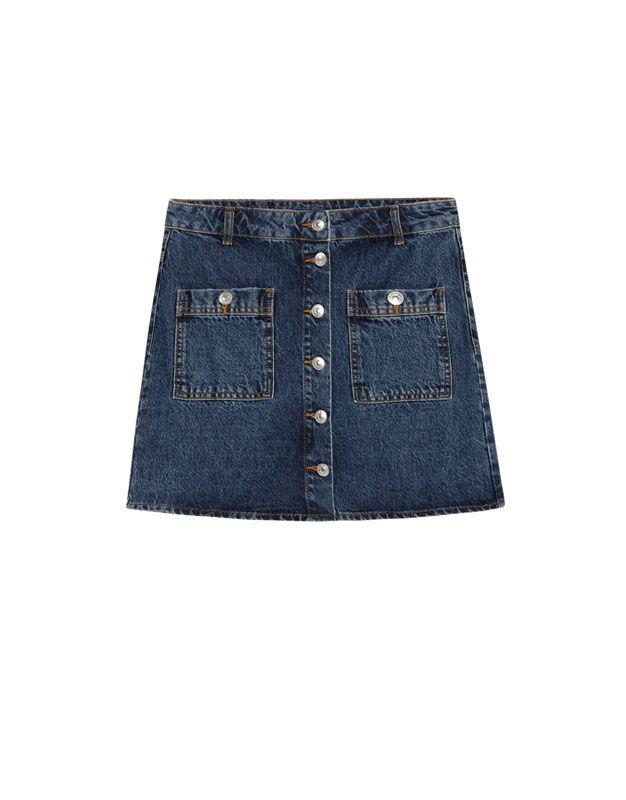 Minifalda vaquera - Faldas - Ropa - Mujer - PULL BEAR España ... 5bdbf2b47444