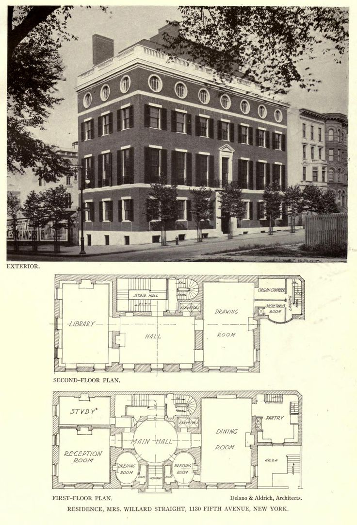 View And Floor Plans Of The Straight Residence New York