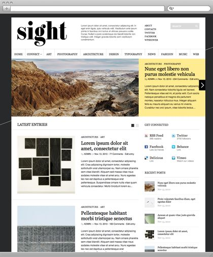 #free #minimal #grid Sight is a professional WordPress theme which was made in a modern minimalistic style and best suits for Blogs & Magazines