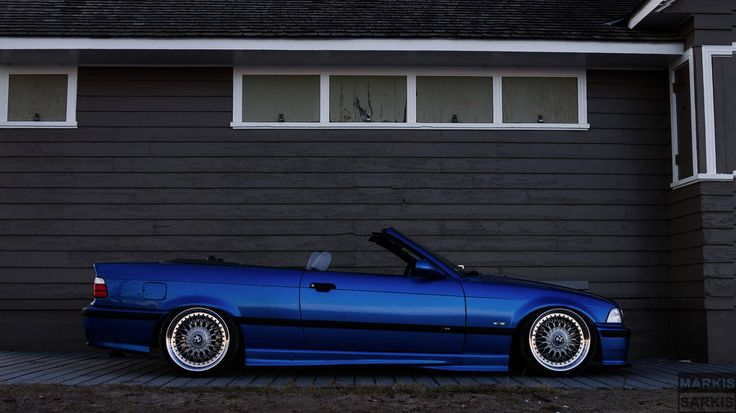 Blue Bmw E36 Cabrio On 18 Oem Bmw Styling 5 Bbs Rc