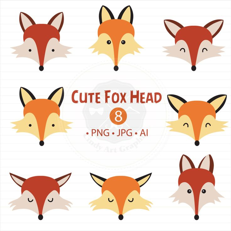 A personal favorite from my Etsy shop https://www.etsy.com/sg-en/listing/400067299/cute-fox-head-clipart-fox-clipartcute
