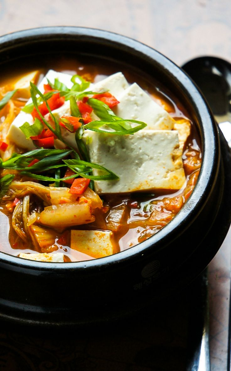 {Korean} Kimchi JjiGae {Kimchi Stew} Perfect for upcoming season! @SECooking | Sandra #food #recipes #koreanfood #kimchi