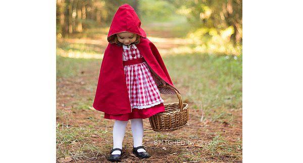 Tutorial: Little Red Riding Hood cape for little girls