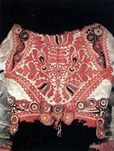 15-11-11  Back of woman's sheepskin jacket   Transdanubia   Budapest, Ethnographical Museum   Károly Szelényi