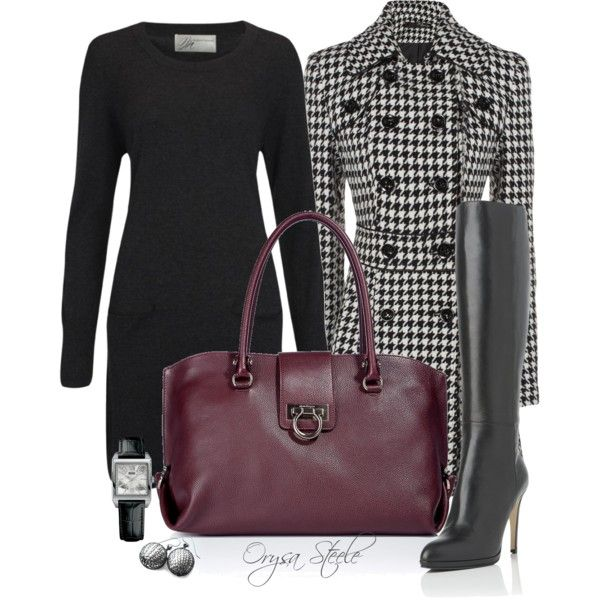 """Houndstooth"" by orysa on Polyvore I need this outfit when i get"