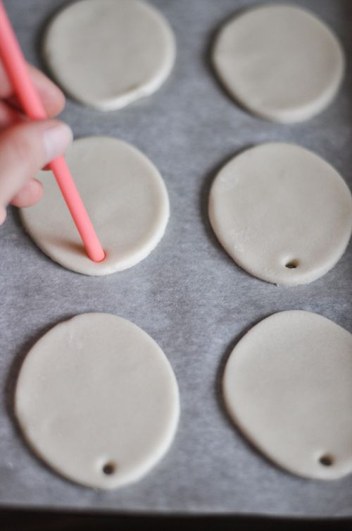 DIY: Salt Dough. can be used with any shape.