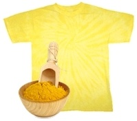 tshirt tingida com acafrao Tingir roupa com açafrão