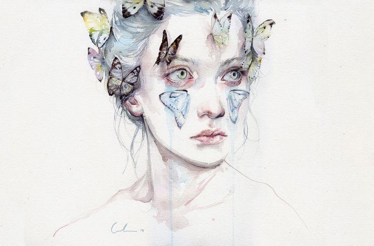 Gorgeous Watercolor Portrait Paintings by Agnes Cecile
