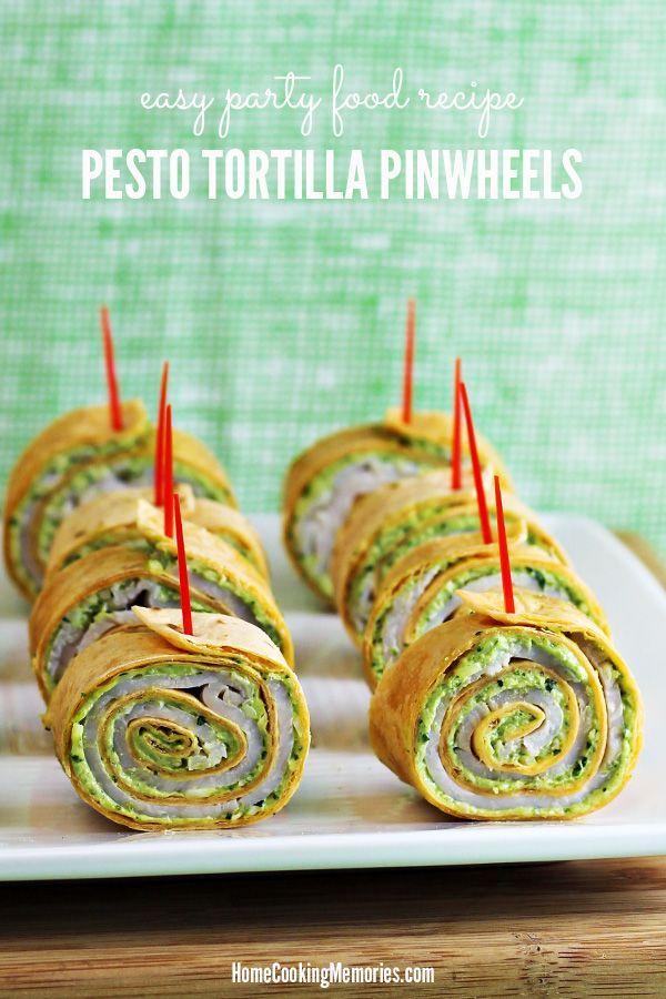 Fácil Partido alimentos: Pesto Tortilla Molinetes Receta