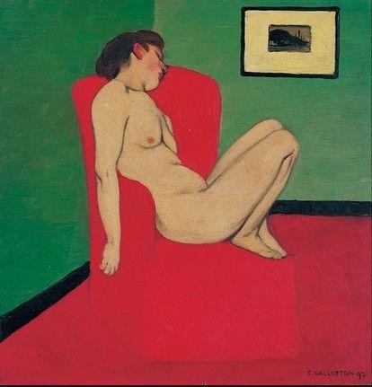 Vallotton Femme assise dans un fauteuil rouge 1897