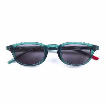 Oliver Spencer Green Oli Sunglasses: These Oli sunglasses by Oliver Spencer's feature an understated yet elegant and distinctive design. Made in Japan from high quality acetate, s/s hinges and lenses giving full UV protection. These forest green glasses are an all year round staple.