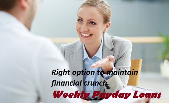 If you are looking low interest cash option, that is available beneficial against the security. It is a short term cash option thus you will get easy benefits of these loans. These loans are designed for your all small monetary requirements that can also be repaid without difficulty with valuable option.www.weeklyrepaymentloans.com/weekly-payday-loans.html