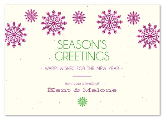 Plantable Business Holiday Cards Modern Snow By Green Business