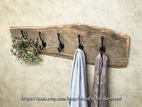 Country Bathroom Towel Rack, Entryway Wooden Wall Coat Rack, Country Kitchen Ideas. Combine Vintage and Modern Rustic style charm with this