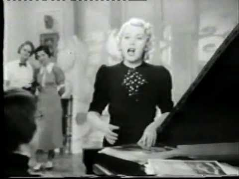 "http://www.youtube.com/watch?v=6xHQwUFdAiU Erna Sack sings ""Frühlingsstimmenwalzer"" (springtime valse) by Johann Strauss in her film ""Blumen aus Nizza"" (Flowers from Nice) 1936. Sack was a German coloratura soprano. The ""German nightingale"". Her career really started in high gear in 1930 when her uncanny ability to sing those stratospheric high notes, including C7 (C above high C)."