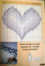 bargello needlepoint heart chart