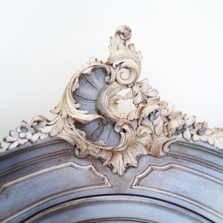 Beautiful Rococo crest / antique French armoire / bespoke colours &…