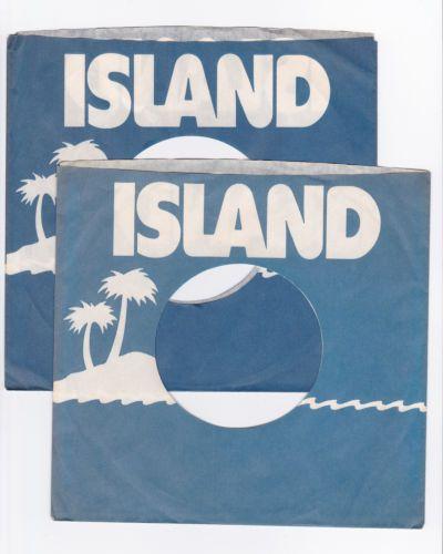 "1970's Island Records Label 7"" 45 RPM Original Record Company Sleeve |"