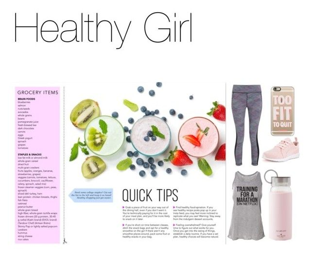 """""""Healthy Girl"""" by roroc ❤ liked on Polyvore featuring Sweaty Betty, Puma, Kate Spade and Casetify"""