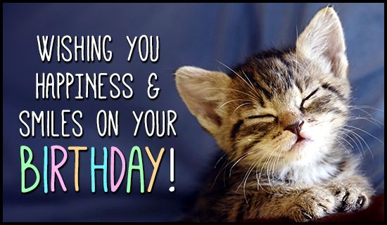 cats saying happy birthday images | Birthday Smiles Birthdays eCard - Free Christian Ecards Online ...